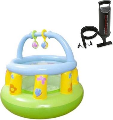 Intex Aadoo Small Tent Camp Pool Tub with Air Pump