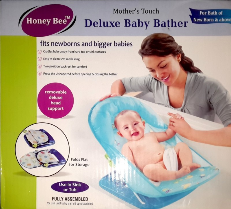 Honey Bee deluxe baby bather(Blue)