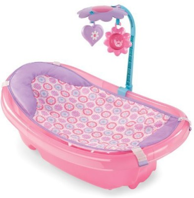 Summer Infant Sparkle Fun Newborn-to-Toddler Baby Tub with Toy Bar