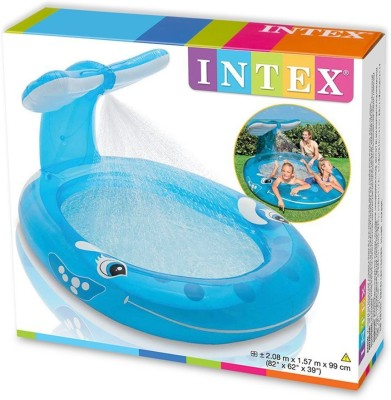 Intex Whale Spray Pool Inflatable Pool(Blue)