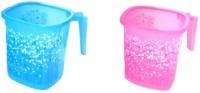 Nayasa Plastic Bath Mug(Pink, Blue 1)