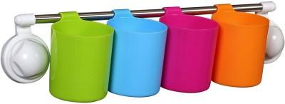 Cosmosgalaxy Kitchen Tumblers-4 Plastic Bath Mug(Multicolor 1)