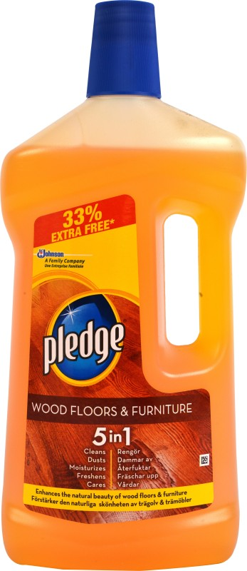 Pledge 5in1Wooden Floor Bathroom Floor Cleaner(1 L, Pack of 1)