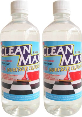 Cleanmax 1L (LIME) -Pack of 2- Disinfectant Bathroom Floor Cleaner