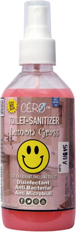 Cero Antibacterial/Disinfectant Lemon Grass Perfumed Toilet Sanitizer Bathroom Floor Cleaner(200 ml, Pack of 1)