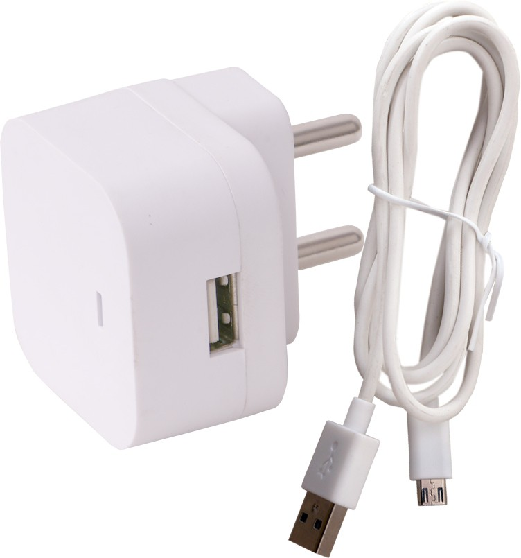 Trost 1A USB Adapter & Cable100 Mobile Charger(White)