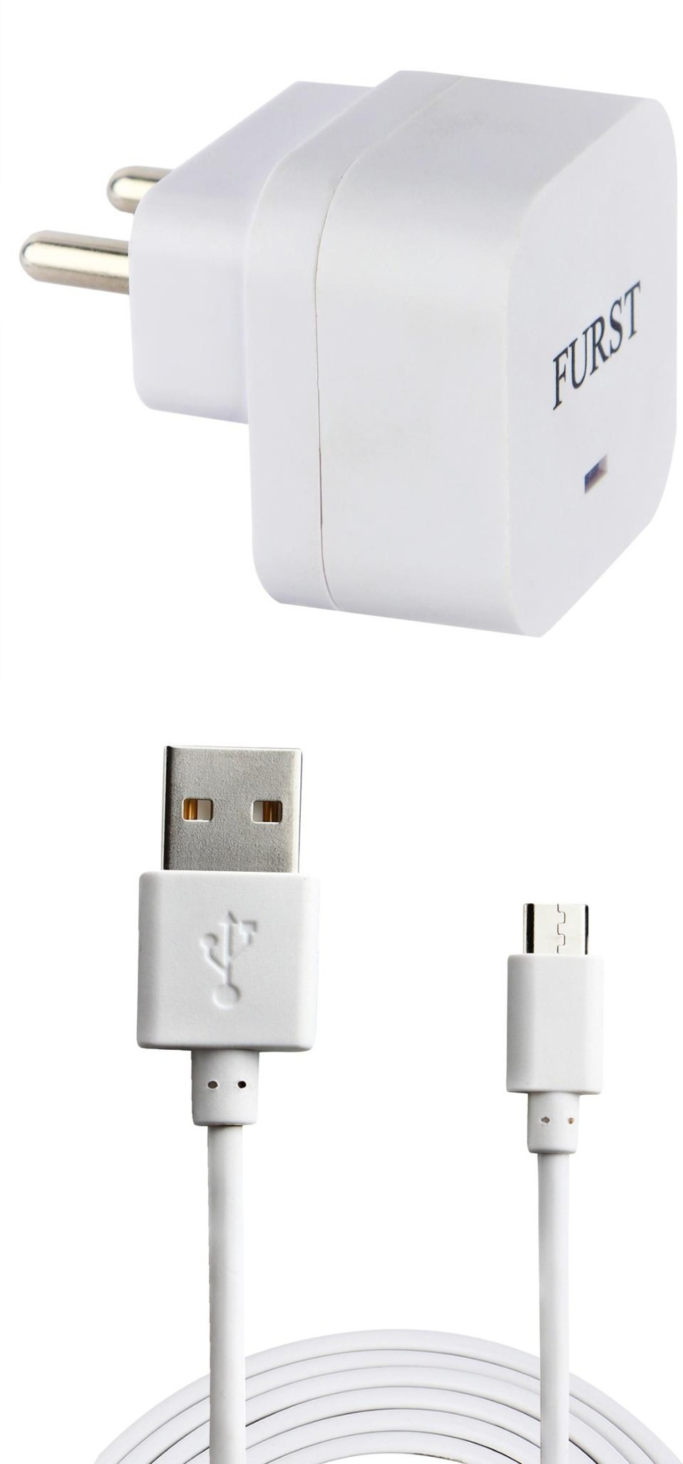 Furst 1.5 Amp. USB Adapter with Cable (1 Mtr) For Infocus Bingo 20 Mobile Charger(White)