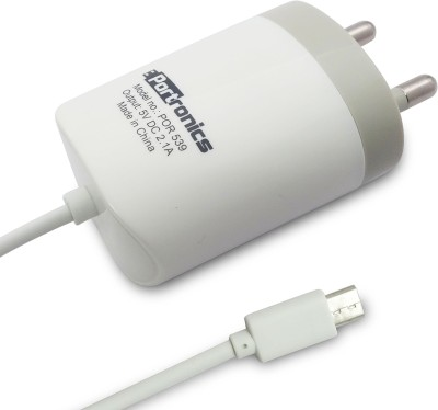 Portronics 2.1A micro USB Cable POR-539 Battery Charger(White) at flipkart
