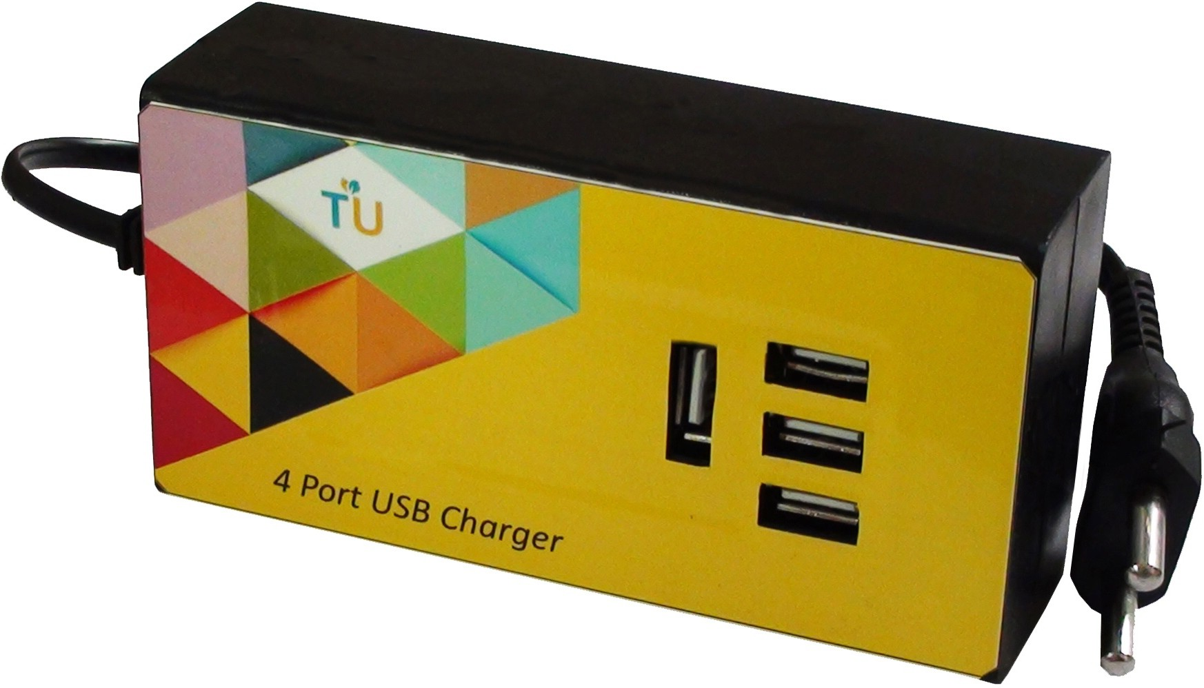 TechnologyUncorked 15 Watt 4 port USB Charger for Handheld Devices & Mobiles Mobile Charger(Black)