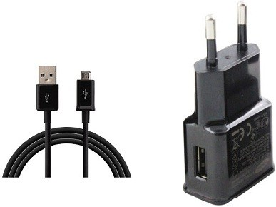 Mobizon Mb mobile wall charger +usb data cable pack of 2 Mobile Charger(Black)