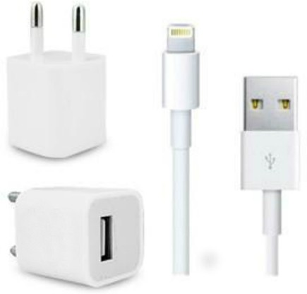 DreamShop Premium Quality charger for Iphone Mobile Charger(White)