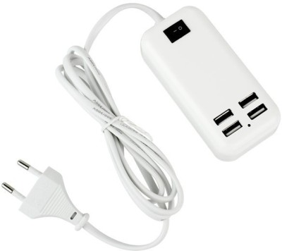 Sec Electronics 15W, 4 USB Port Dekstop Power Adapter For Apple I PodNano& All Other Smartphones Battery Charger