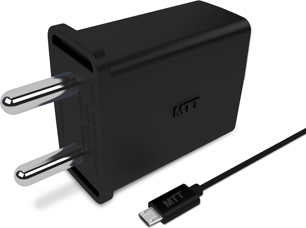 MTT 1 Port 2.1Ampere Premium Mobile Charger(Black)