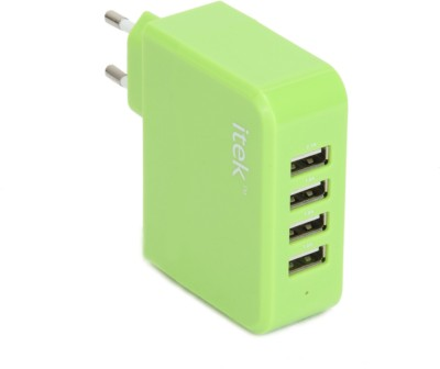Itek 4 Port USB Wall Adapter WCH003_GR Battery Charger