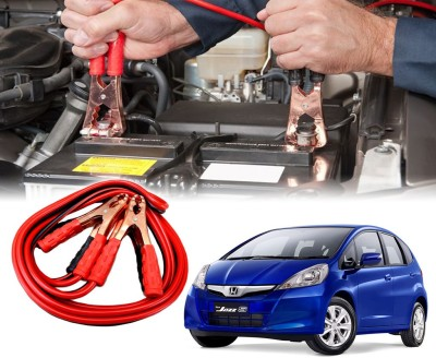 Auto Pearl Car 500 Amp Heavy Duty Booster Anti Tangle Copper Core For - Honda Jazz 7.5 ft Battery Jumper Cable