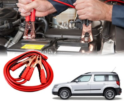 Auto Pearl Car 500 Amp Heavy Duty Booster Anti Tangle Copper Core For - Skoda Yeti 7.5 ft Battery Jumper Cable
