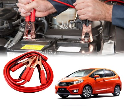 Auto Pearl Car 500 Amp Heavy Duty Booster Anti Tangle Copper Core For - Honda Jazz 2015 7.5 ft Battery Jumper Cable