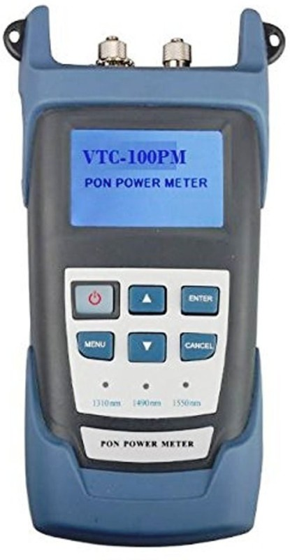 V Tech Fiber PON Optical Power Meter VTC100PM for EPON GPON xPON, CCTV & FTTx / FTTH ONT / OLT, OLT-ONU 1310/1490/1550nm Digital Battery Tester