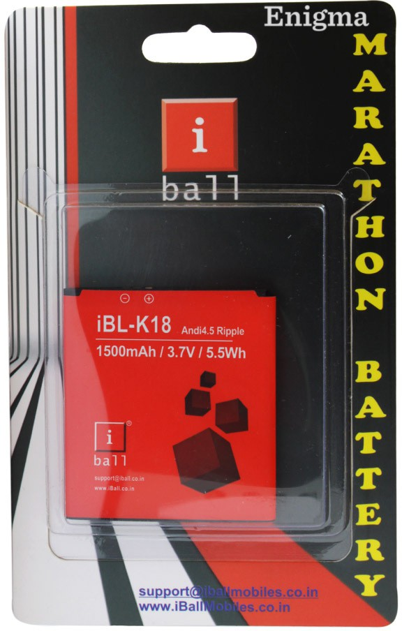 Iball Battery - K-18 Andi4.5 Ripple(Red)