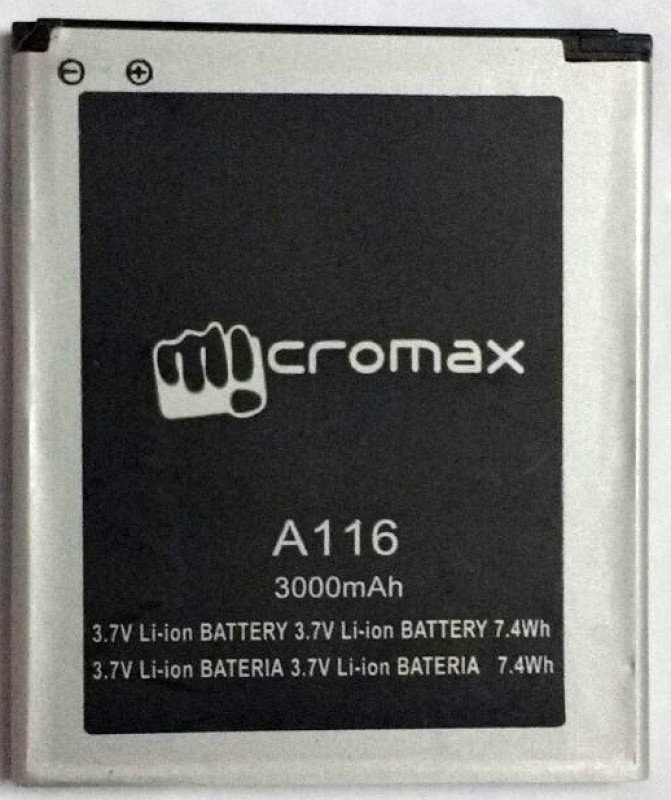 Micromax  Battery - Micromax A116 Battery(Black)