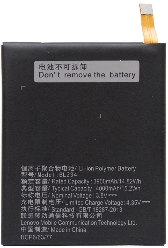 Kolor Edge  Battery - BL234 for Lenovo P70, P70t, A5000, P90(Multicolor)