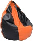 Relax XXL Bean Bag Cover (Orange, Black)