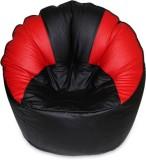 Relax XXXL Bean Bag Cover (Black, Red)
