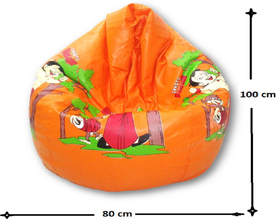 View Sudesh Handloom XL Bean Bag Cover(Orange, Multicolor) Furniture (Sudesh Handloom)