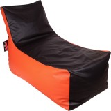 Olybo XXL Lounger Bean Bag Cover (Orange...