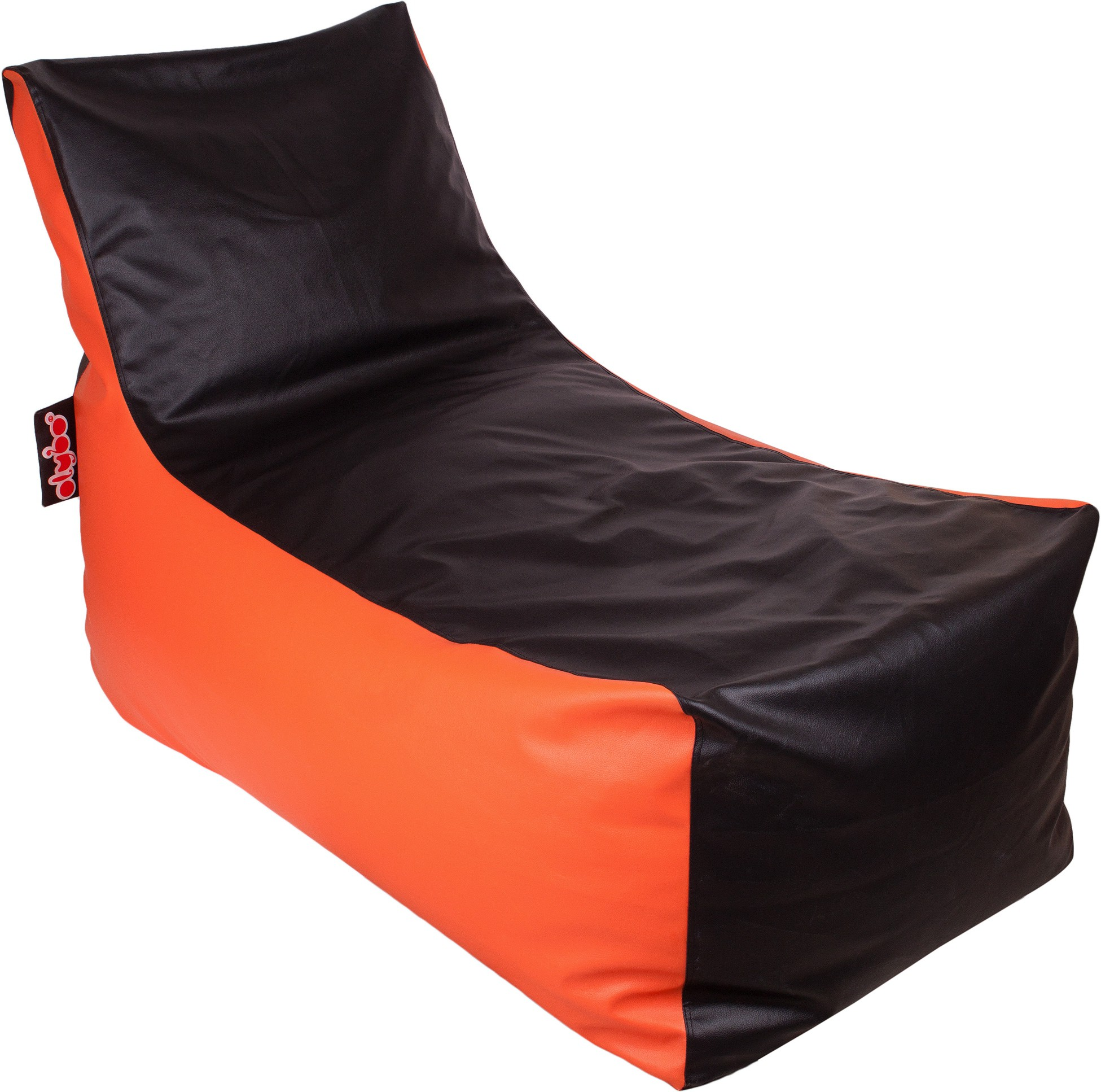 View Olybo XXL Lounger Bean Bag Cover(Orange, Black) Furniture (Olybo)