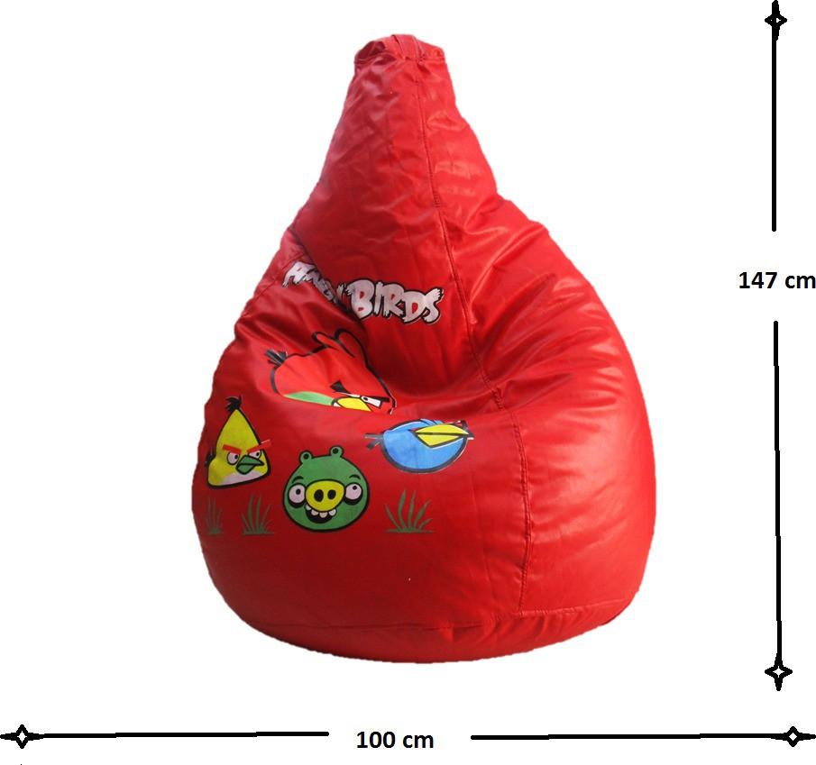 View Sudesh Handloom XXL Bean Bag Cover(Red, Multicolor) Furniture (Sudesh Handloom)
