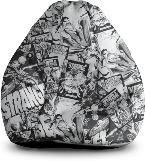 View Marvel XXL Bean Bag Cover(Black, White) Furniture (Marvel)