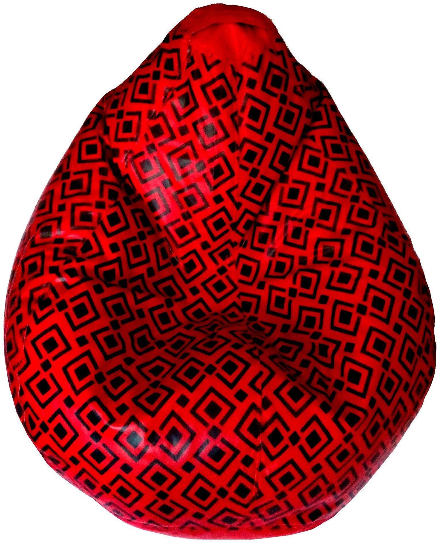 View TJAR XXL Bean Bag Cover(Red, Black) Furniture (TJAR)