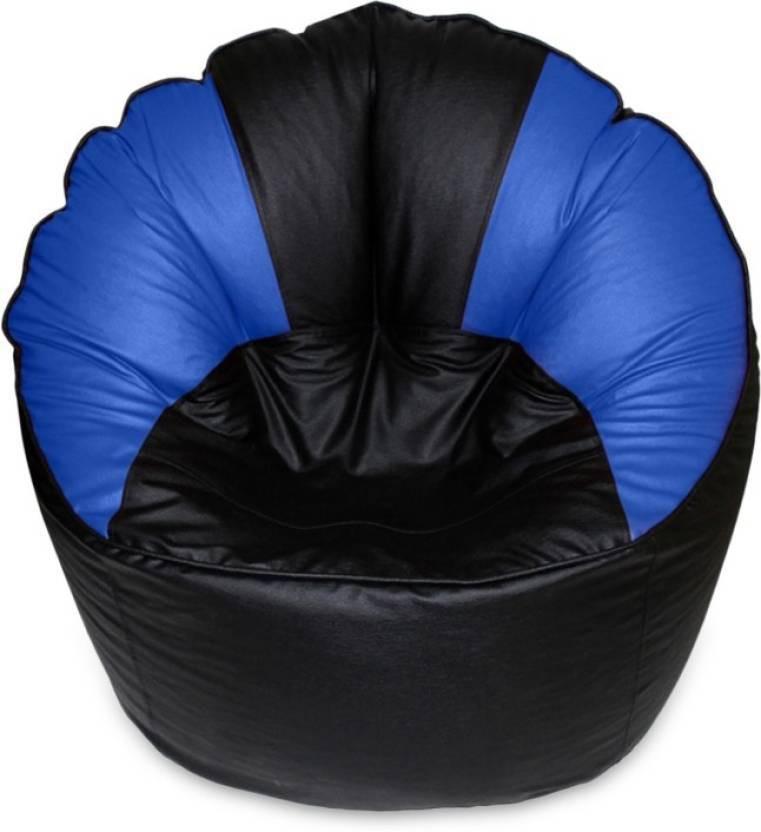 View Msquire XXXL Bean Bag Cover(Black, Blue) Furniture (Msquire)