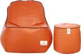 Star XXXL Lounger Bean Bag Cover (Orange...