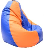Relax XXL Bean Bag Cover (Orange, Blue)