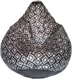 TJAR XXL Bean Bag Cover (Black, Grey)
