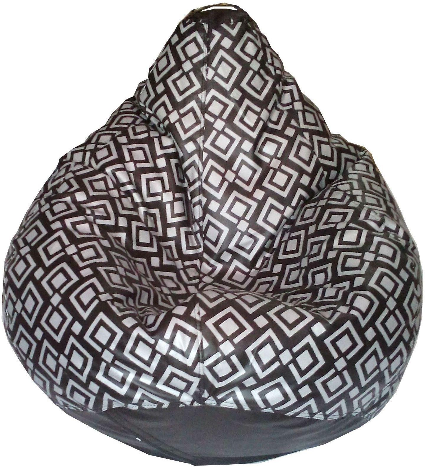 View TJAR XXL Bean Bag Cover(Black, Grey) Furniture (TJAR)