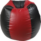Rehal Large Bean Bag Cover (Red, Black)