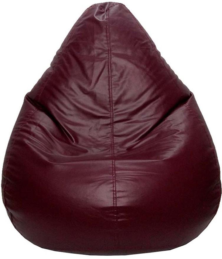 View PSYGN XL Teardrop Bean Bag Cover(Brown) Price Online(Psygn)