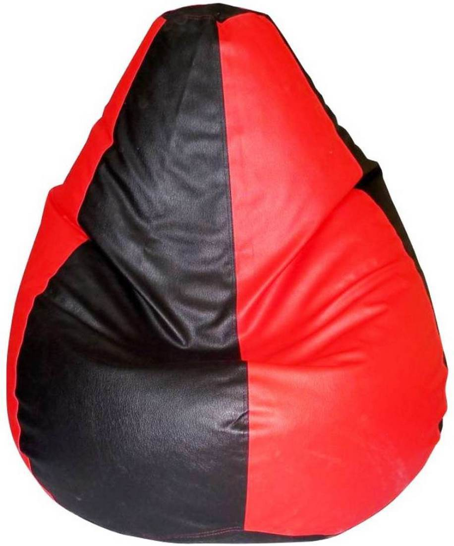 View Msquire XXXL Bean Bag Cover(Black, Red) Furniture (Msquire)