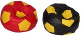 Star XXL Bean Bag Cover (Red, Yellow)