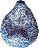 TJAR XXL Bean Bag Cover (Blue, Grey)