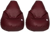 Star XL Teardrop Bean Bag Cover (Maroon)