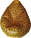 TJAR XXL Bean Bag Cover (Yellow, Black)
