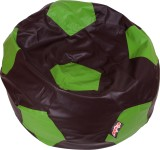 Olybo XXXL Bean Bag Cover (Brown, Green)