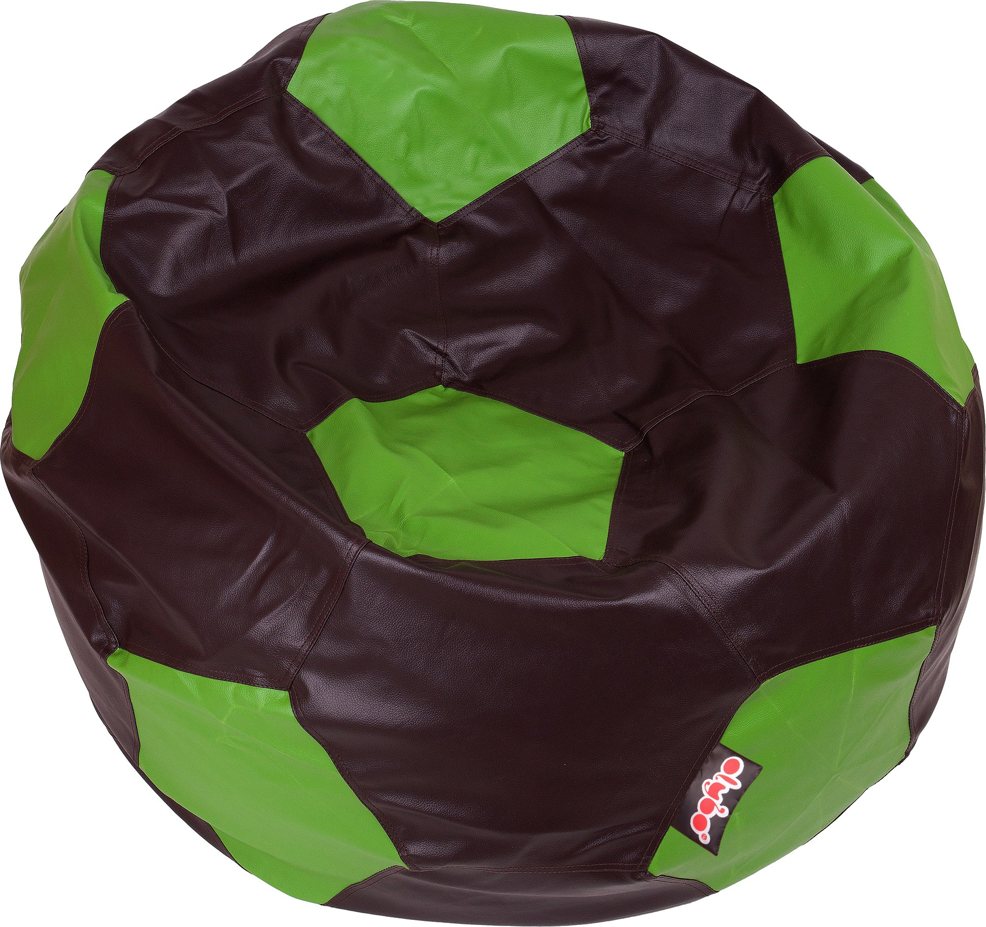 View Olybo XXL Bean Bag Cover(Green, Brown) Furniture (Olybo)