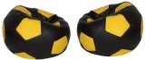 Star XXL Bean Bag Cover (Black, Yellow)