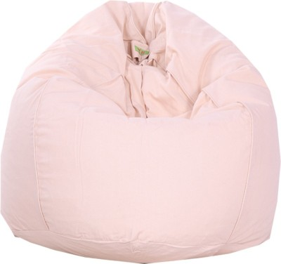 REME XL Lounger Bean Bag Cover(Pink)