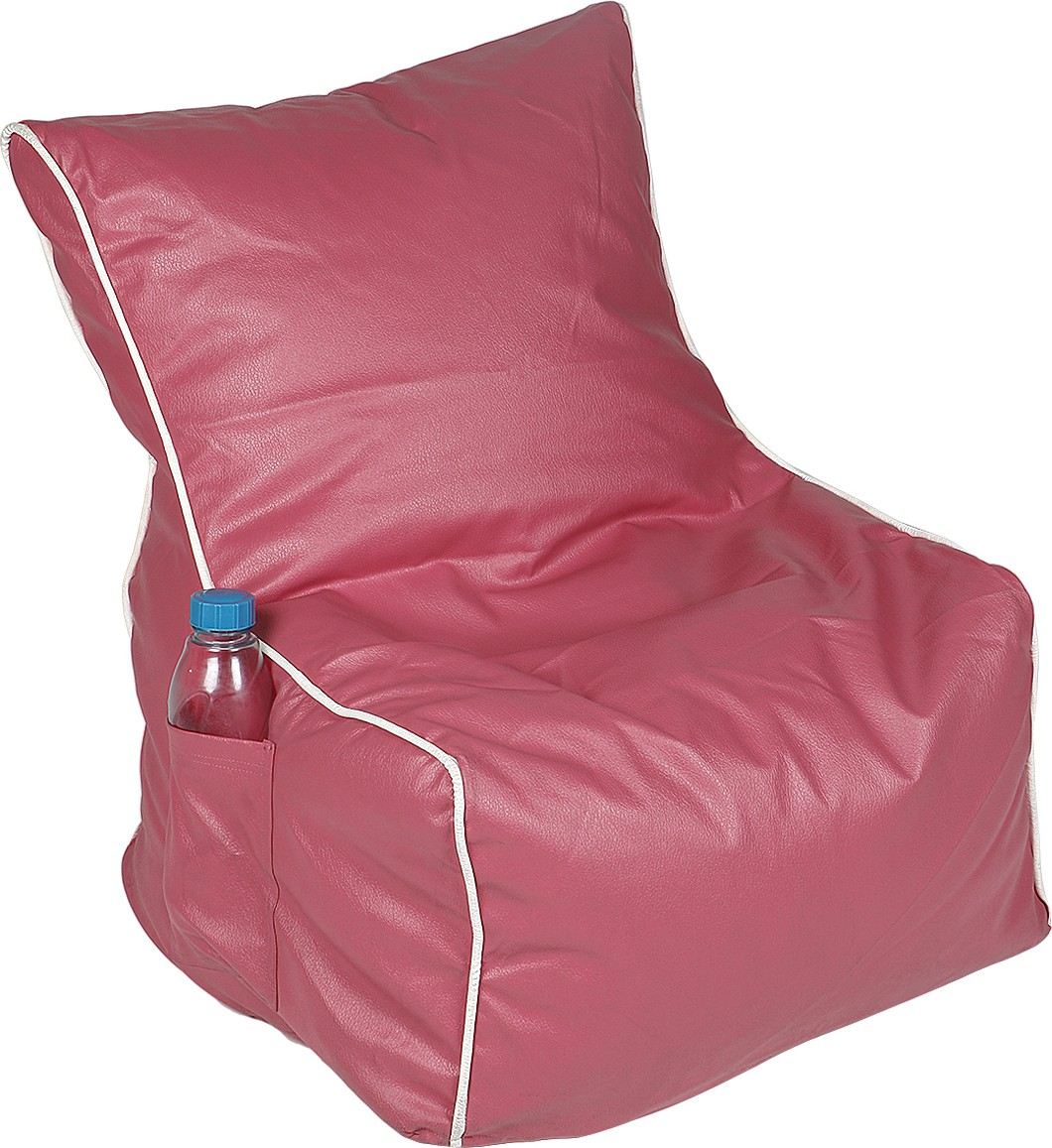 View Rehal XL Bean Bag Cover(Pink, White) Furniture (Rehal)